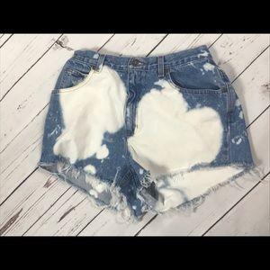 Size 8 acid wash cutoff shorts vintage 90's shorts